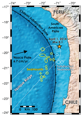 Subducting seamounts blocked a big quake in Chile | Geology IN