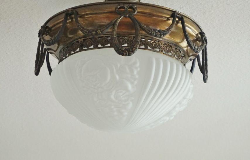 Plafoniere Kristall Antik : Alte deckenlampe antik plafoniere kronleuchter lamp im jugendstil