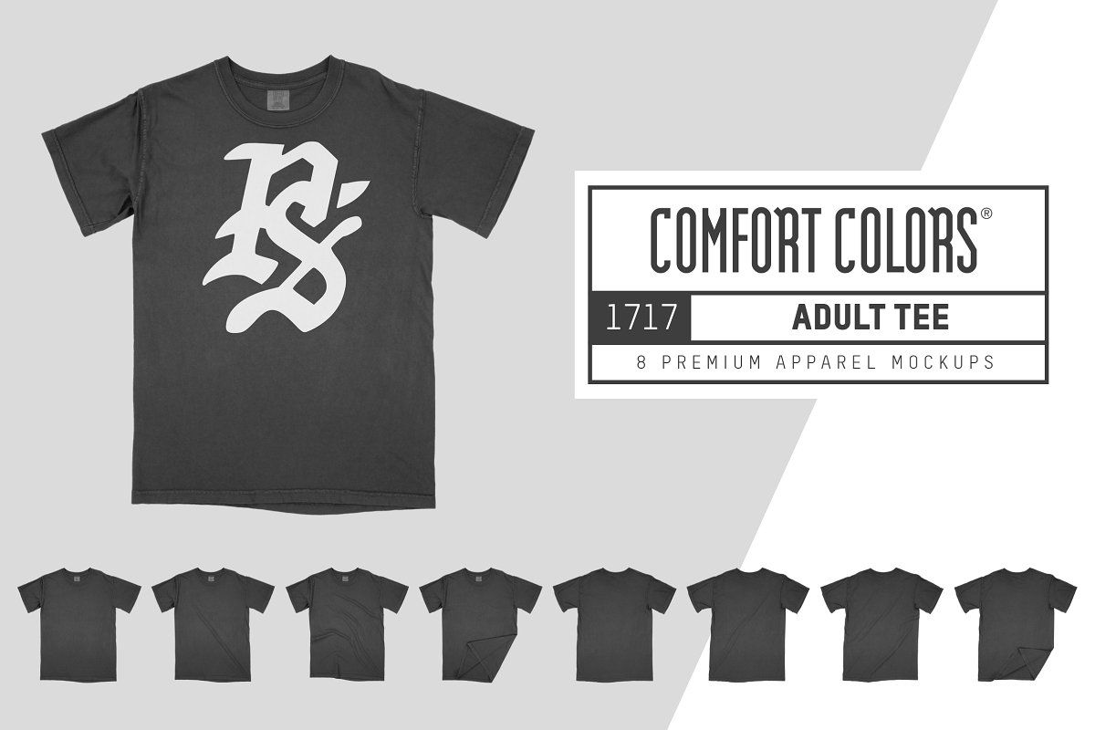 Comfort Colors 1717 Adult Tee Mocks Comfort colors