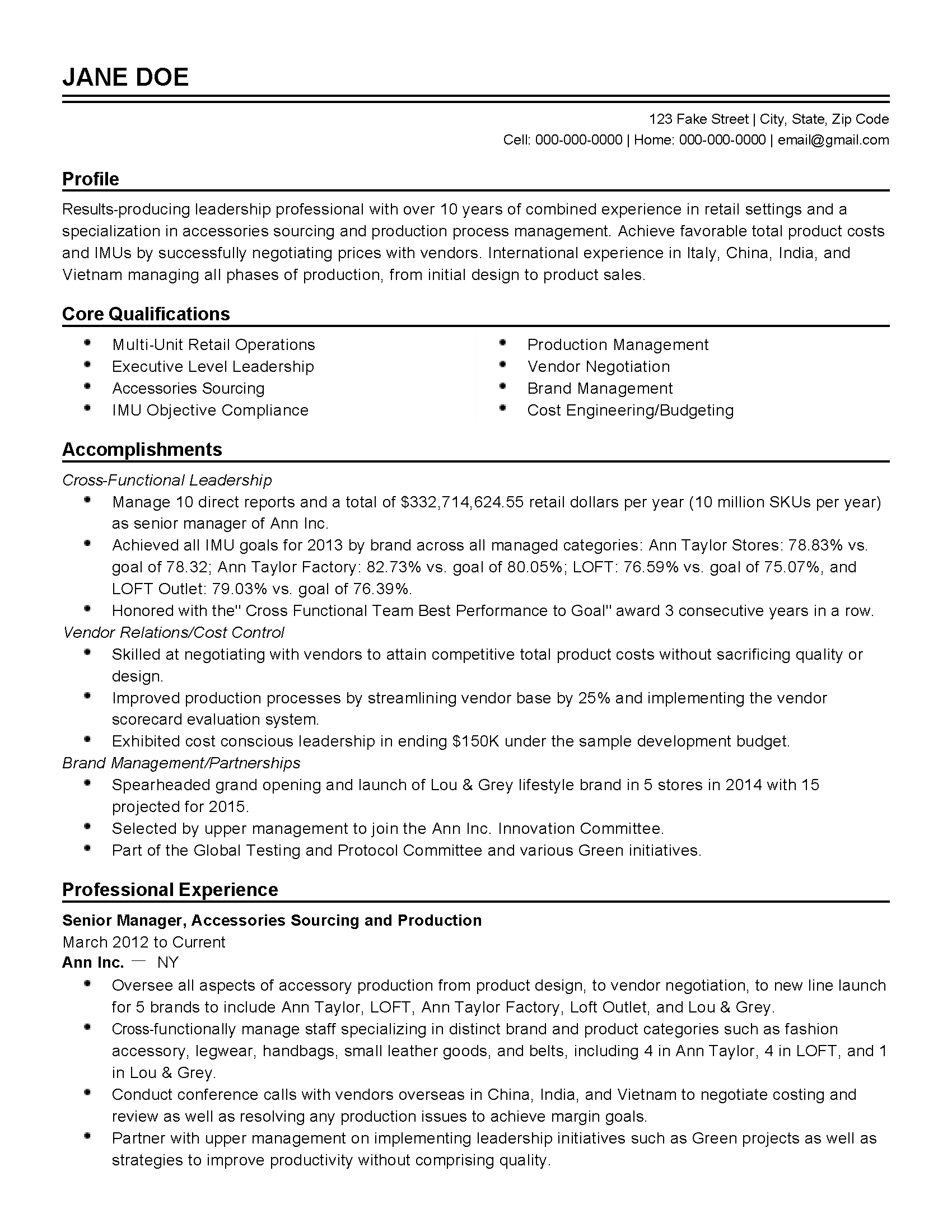 Resume Examples Over 10 Years Experience #examples #experience