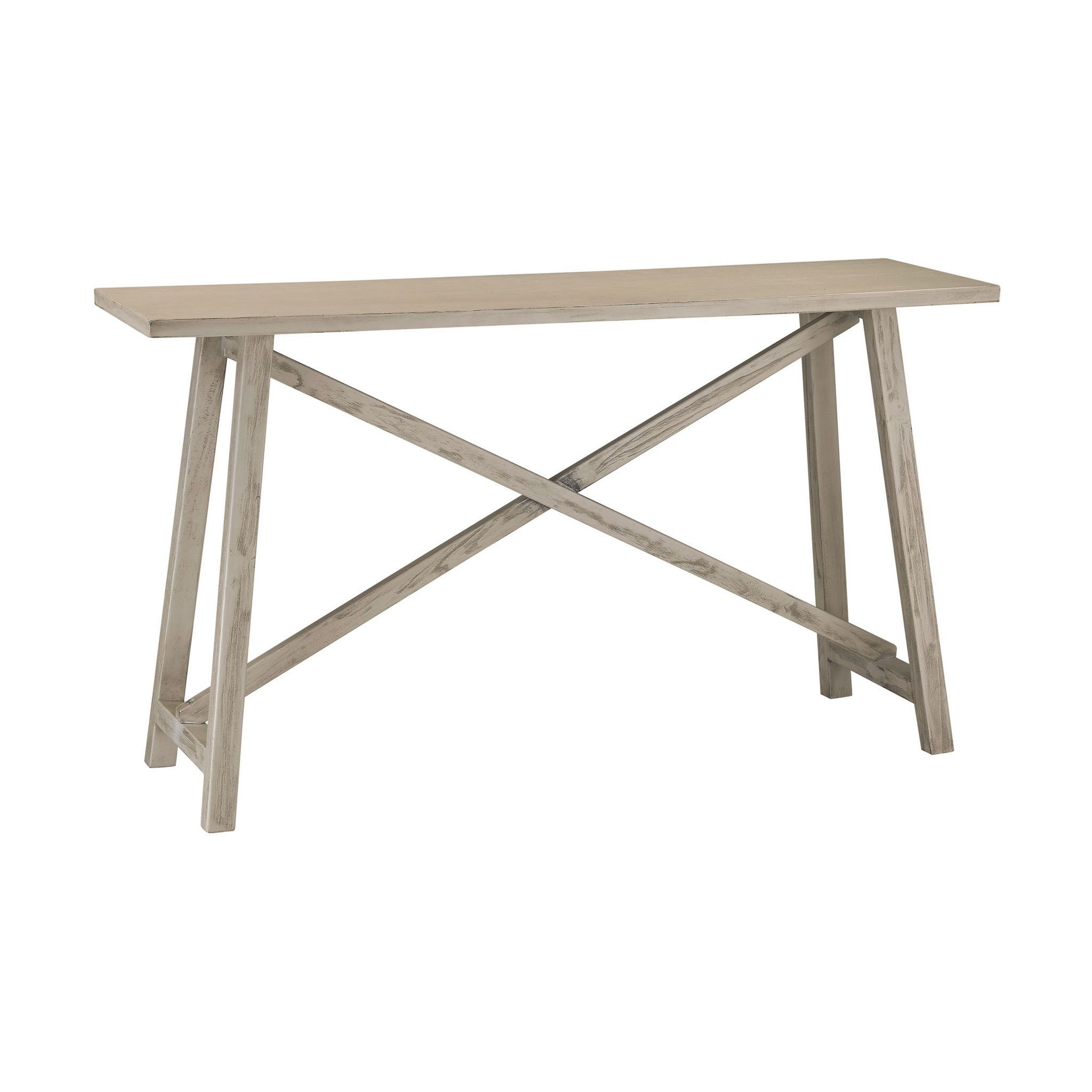 Sterling driftwood console table gray products sterling driftwood console table gray geotapseo Image collections