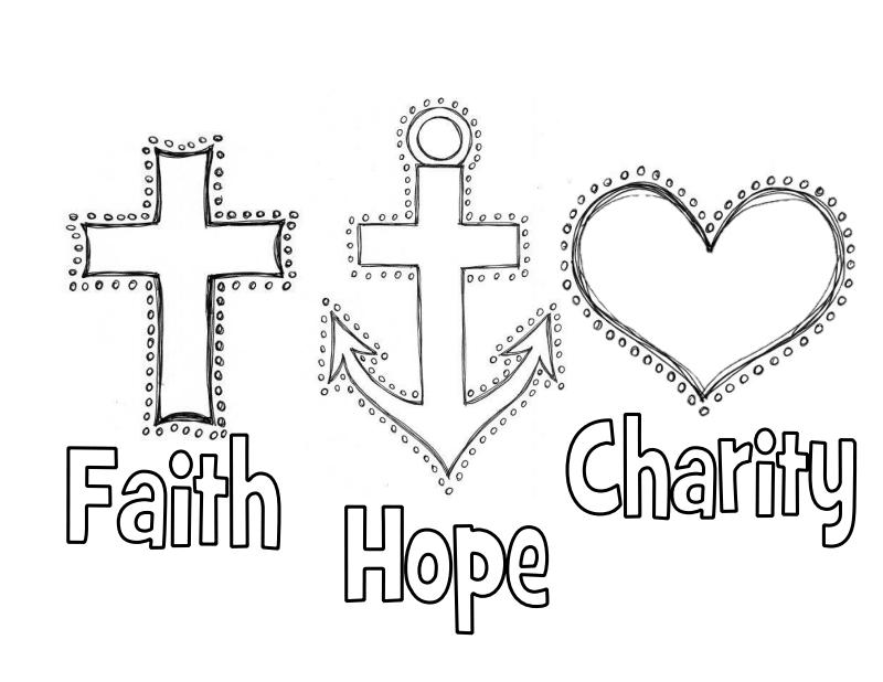 Faith Hope Charity Pdf Google Drive Love Coloring Pages Faith Hope Love Symbol Coloring Pages
