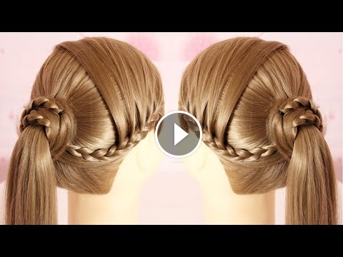 Unique One Sided Braid Ponytail Hairstyle One Sided Braid Ponytail
