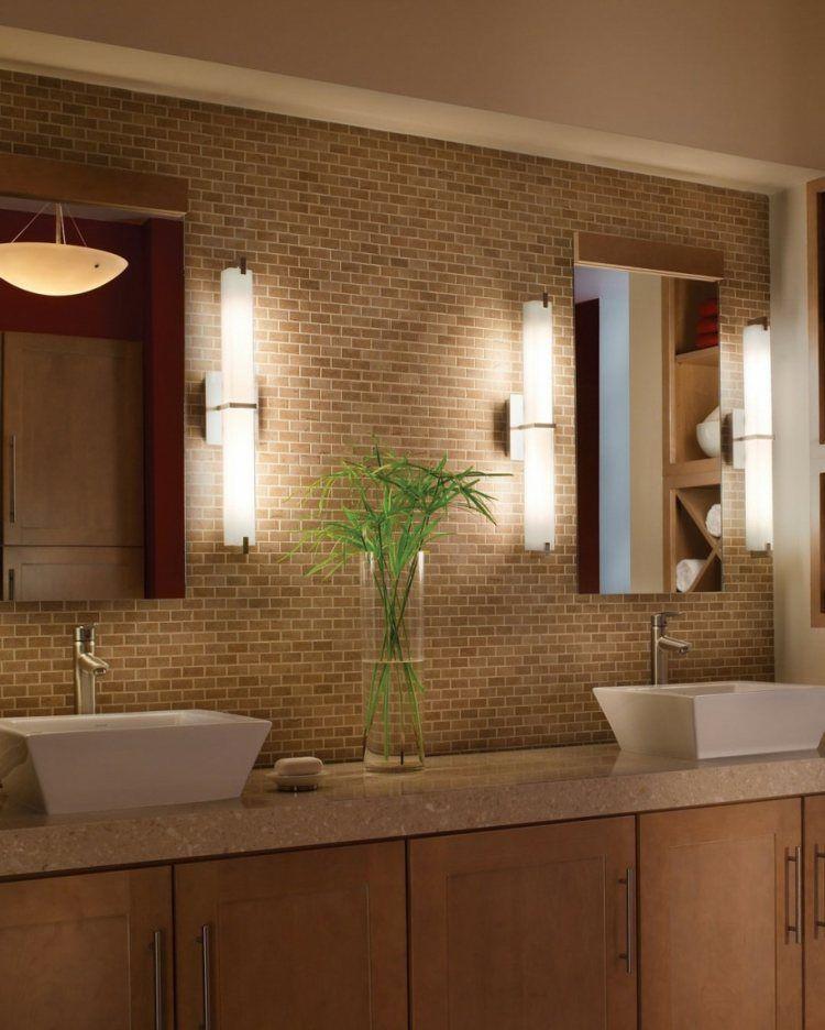 luminaire salle de bain id es en 22 photos splendides d co contemporaine applique salle de