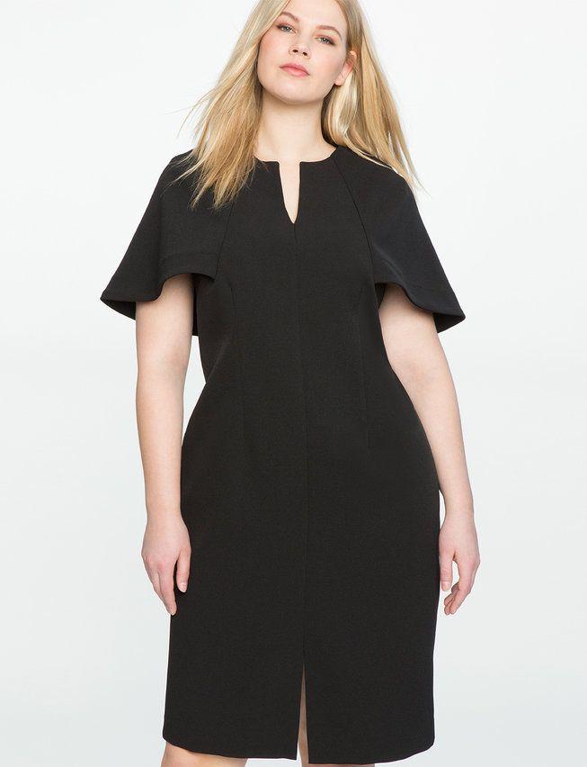 89718095e2 View our Cape Top Sheath Dress and shop our selection of plus size designer  women s Dresses