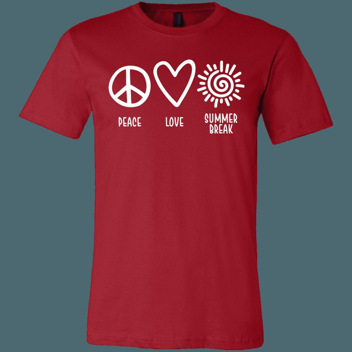 Peace Love Summer Break End Of Year Teacher T-Shirt