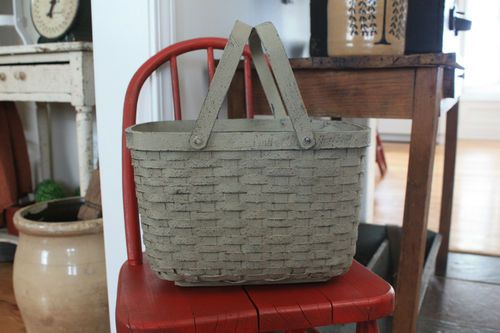 Great whitewashed market basket, last one