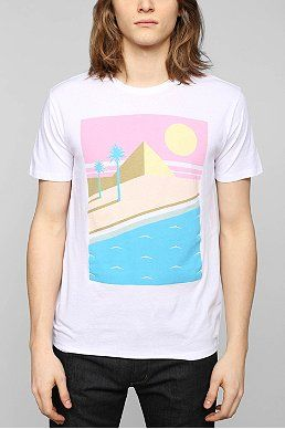 Poolhouse Retro Beach Scene Tee