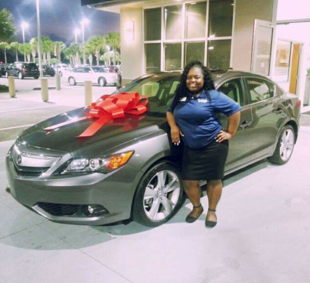 Service Representative Kira With Her New 2015 Acura ILX