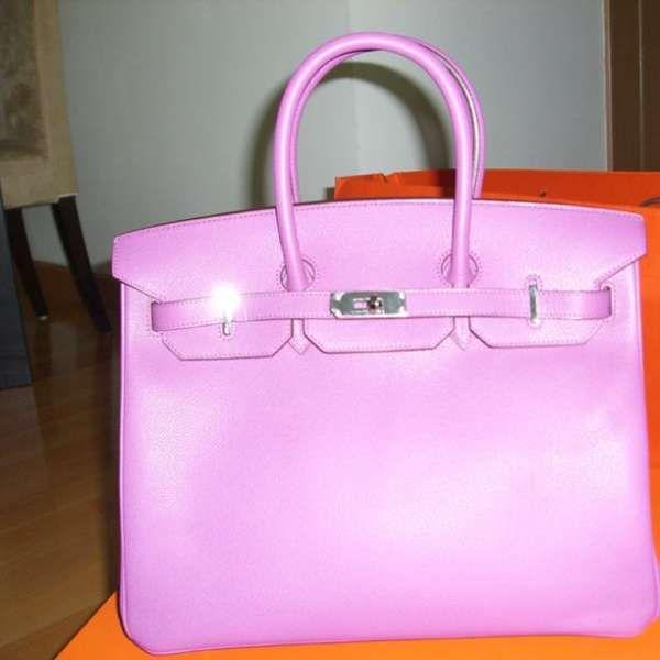purple Hermes bag taken with #snapette