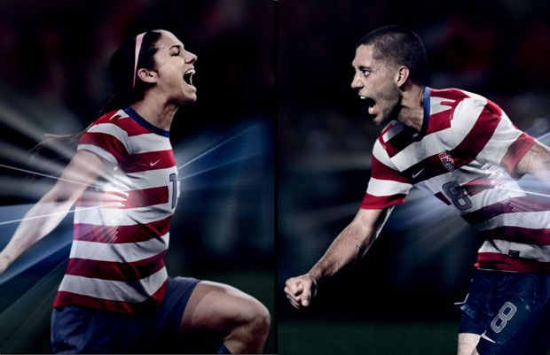 Nike Unveils New Home Kit For  US Men s And Women s National Soccer Teams   usmnt  uswnt clintdempsey alex morgan da2d835d6