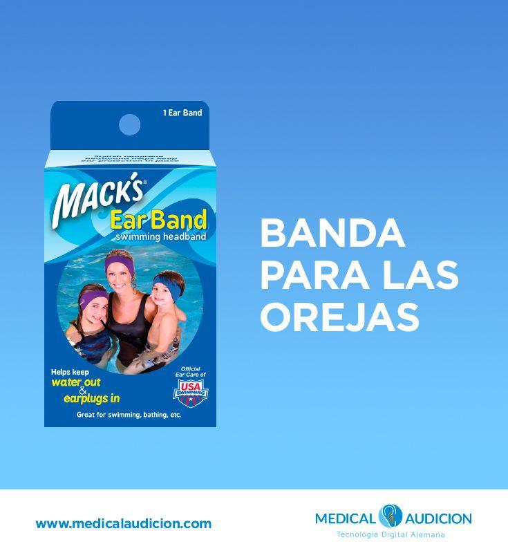 BANDA PARA LAS OREJAS - Bandas estilizadas para las orejas que se adaptan a la cabeza, ideales para nadar y bañarse.