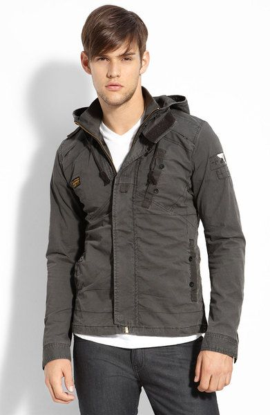 895d4a7dbf9 Recolite Trim Fit Hooded Jacket - Lyst. Recolite Trim Fit Hooded Jacket - Lyst  G Star Raw Jackets, G Star Jacket,