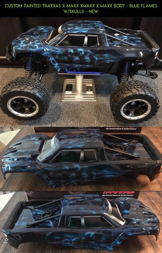 Custom Painted Traxxas X Maxx Xmaxx X Maxx Body Blue Flames W