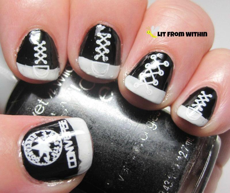 Nail Art Couture Converse Nail Art: Nails, Nail Art, Converse, Chuck Taylor, Nail Art For Nubs