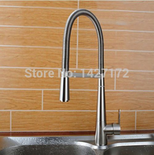 Hot Sale New Brushed Nickel Kitchen Faucet Pull Out Single Handle Stunning Brushed Nickel Kitchen Faucet Inspiration