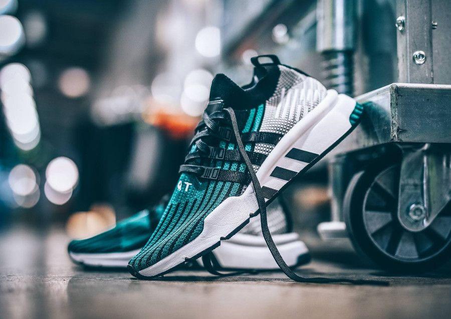 info for 9fa96 7f4fd adidas equipment support md adv primeknit black sub green (2018)