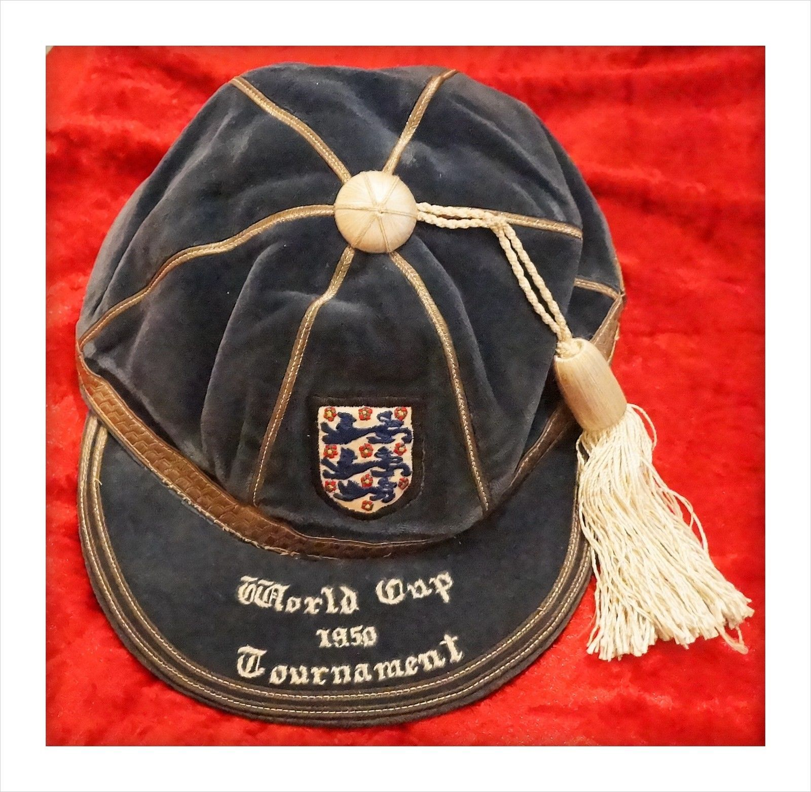 19ac19eb784 Very Rare 1950 England World Cup Football Cap. Wolves Goalkeeper ...