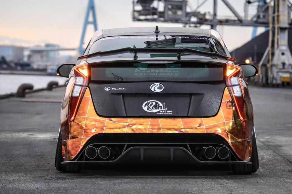 Tuned 2016 Prius With Quad Exhaust And Leather Wrap Looks Too Weird