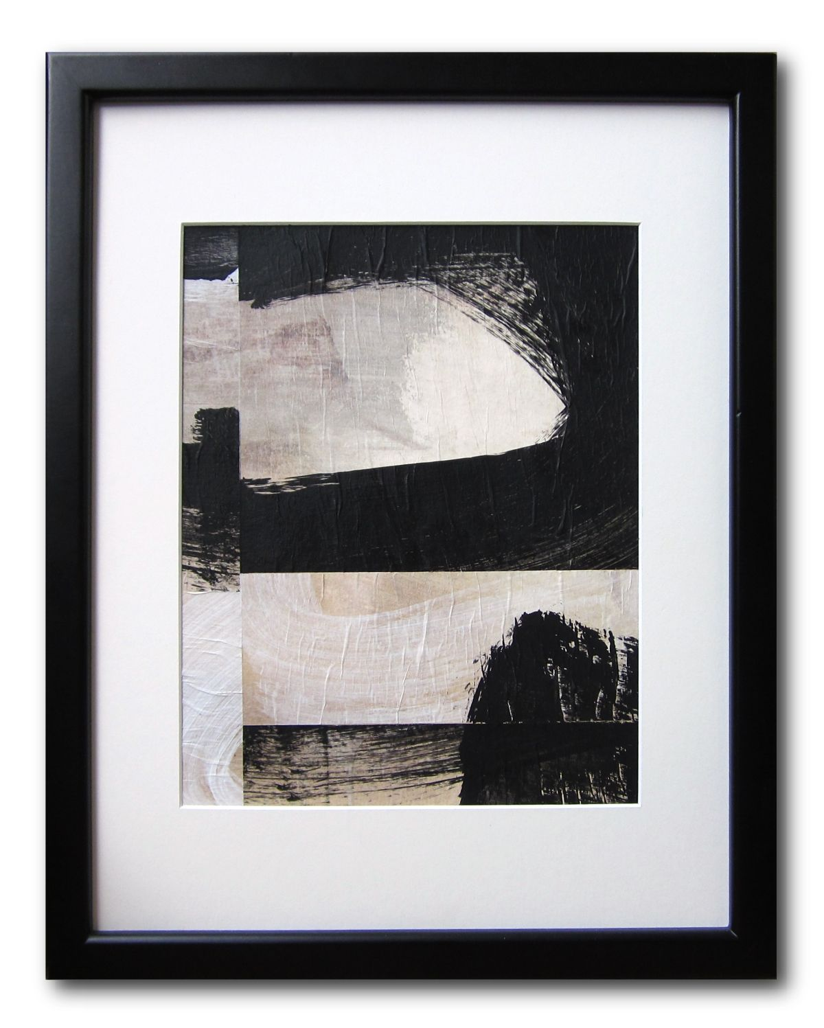 "Black and White / 8"" x 10"" / Collage / Original Abstract Painting / By Edmond Lacoste    https://www.etsy.com/listing/103385508/black-and-white-8-x-10-collage-original"