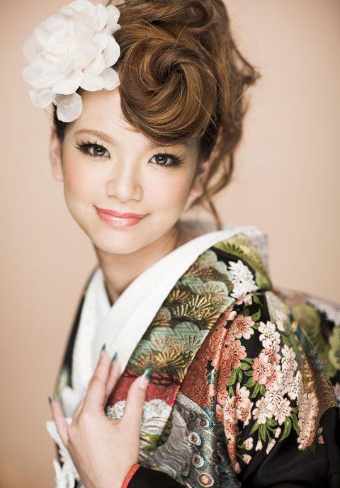 Japanese Kimono Style Studio Aim Hair Arrange Kimono Fashion Yukata Kimono