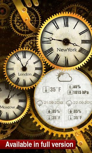 FREE Gold Clock Live Wallpaper - Android Apps & Games on Brothersoft.com