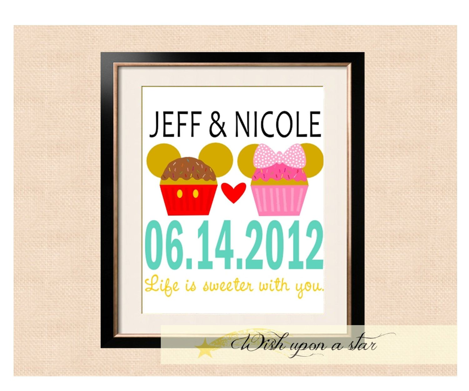 Wedding anniversary decoration ideas at home  Disney Mickey and Mickey Cupcake Wedding Anniversary Date