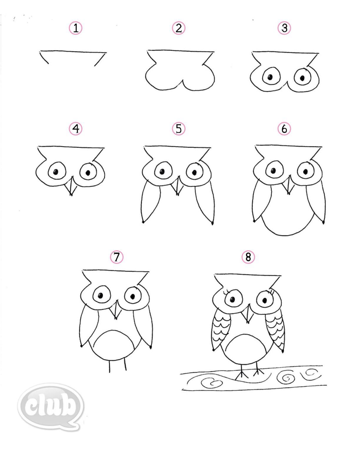 Draw An Owl Art In 2018 Pinterest Dessin Hibou Dessin And