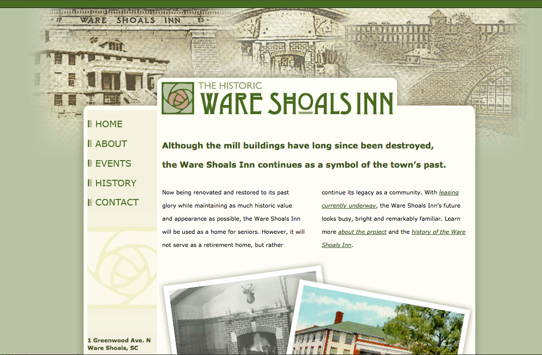 Ware Shoals Inn I Awen Group Ware Shoals Saluda Shoals