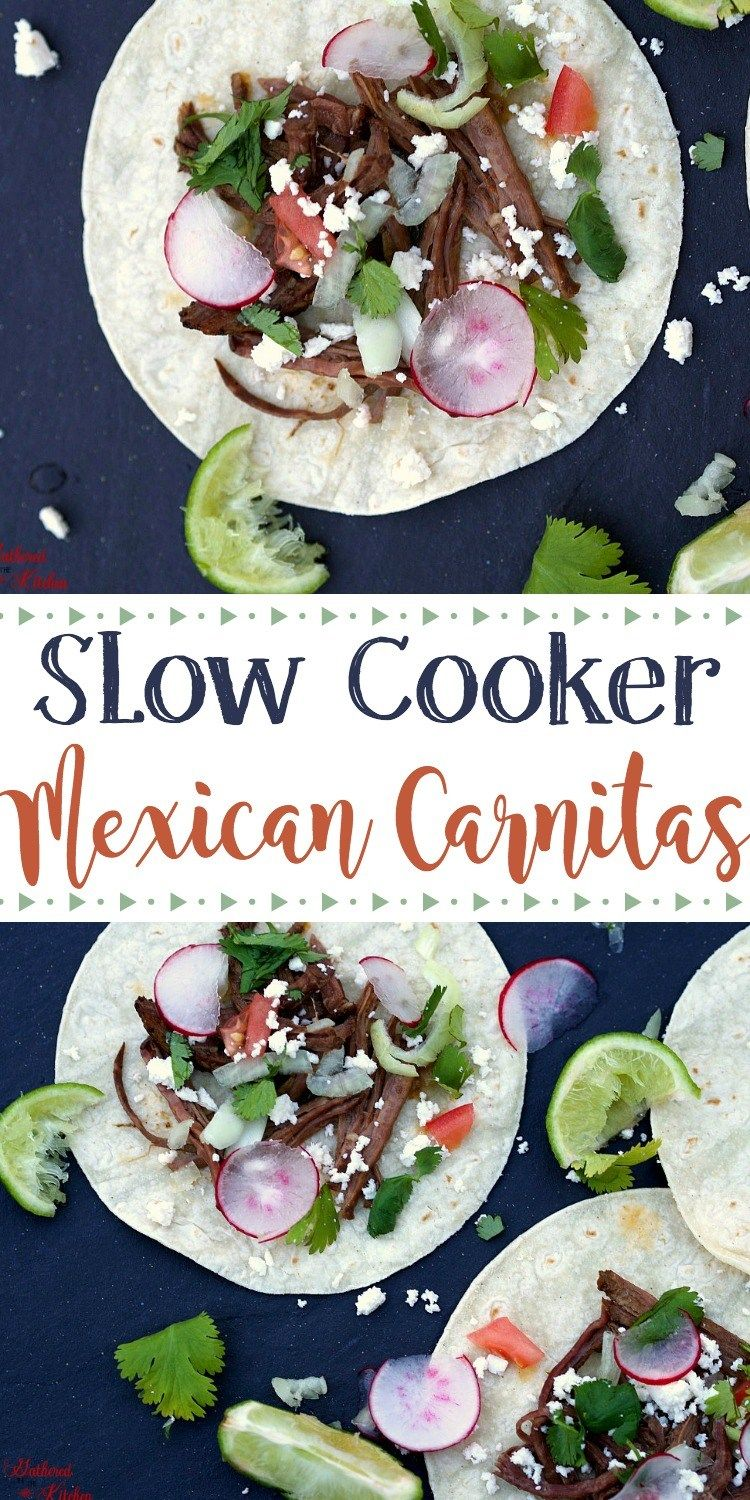 Mouthwatering, delicious, can't stop eating Slow Cooker Mexican Carnitas