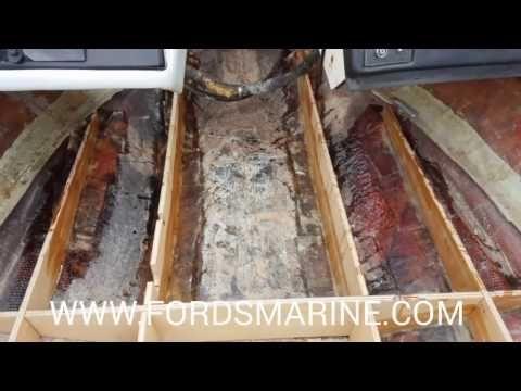 How To Remove A Boat Floor Youtube Boat Restoration Boat Building Floor Restoration