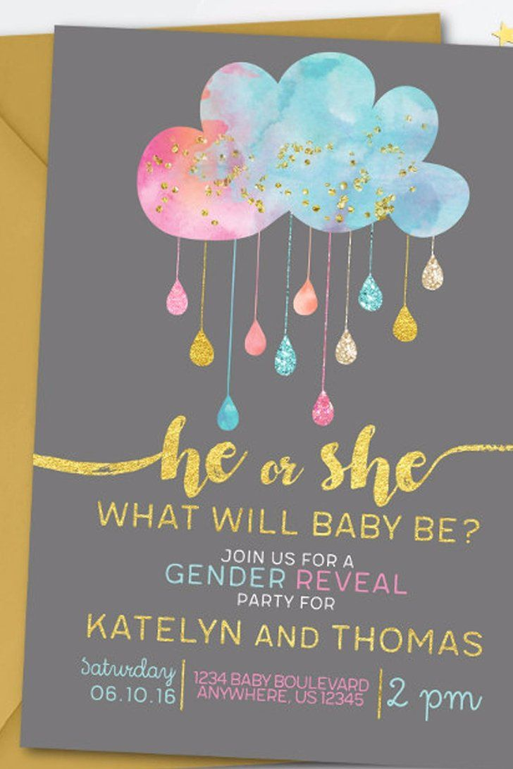20 Adorable Gender Reveal Party Invitations Gender Reveal Party Invitations Gender Reveal Invitations Baby Gender Reveal Party
