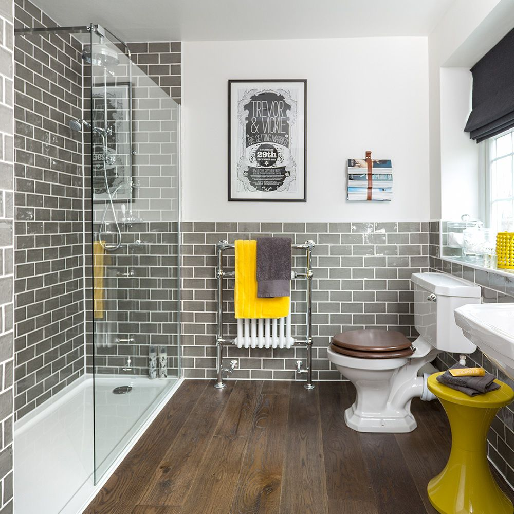 Shower Room Ideas To Help You Plan The Best Space For Your Bathroom With Images Yellow Bathroom Decor Yellow Bathrooms Bathroom Interior