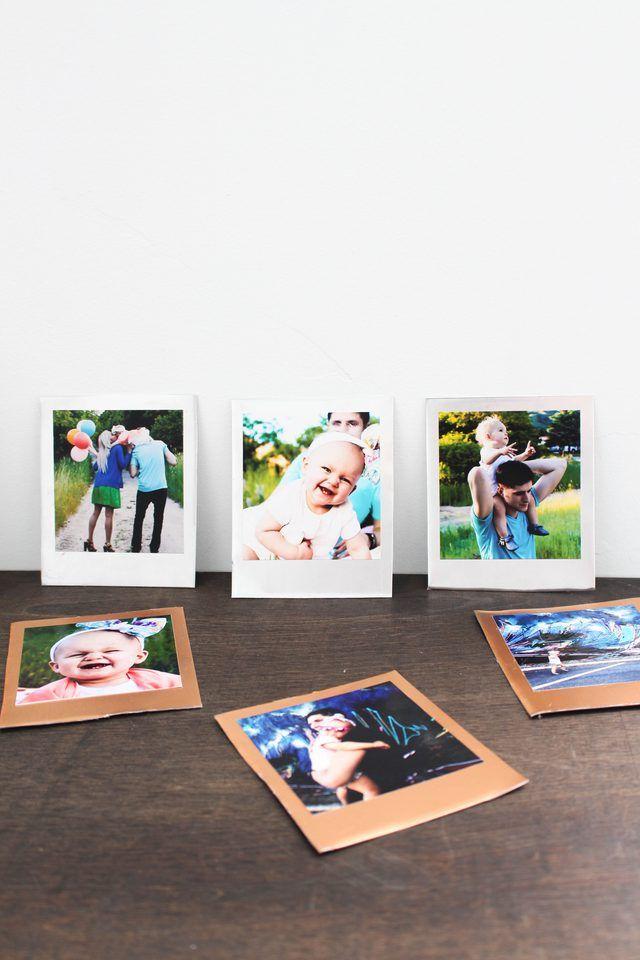 DIY Metallic Polaroid Frames