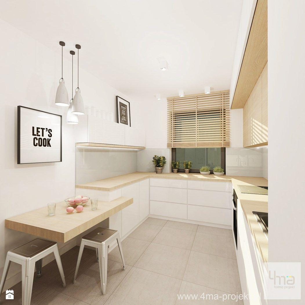 Wystr j wn trz kuchnia styl nowoczesny projekty i for Cuisine 8m2 ikea