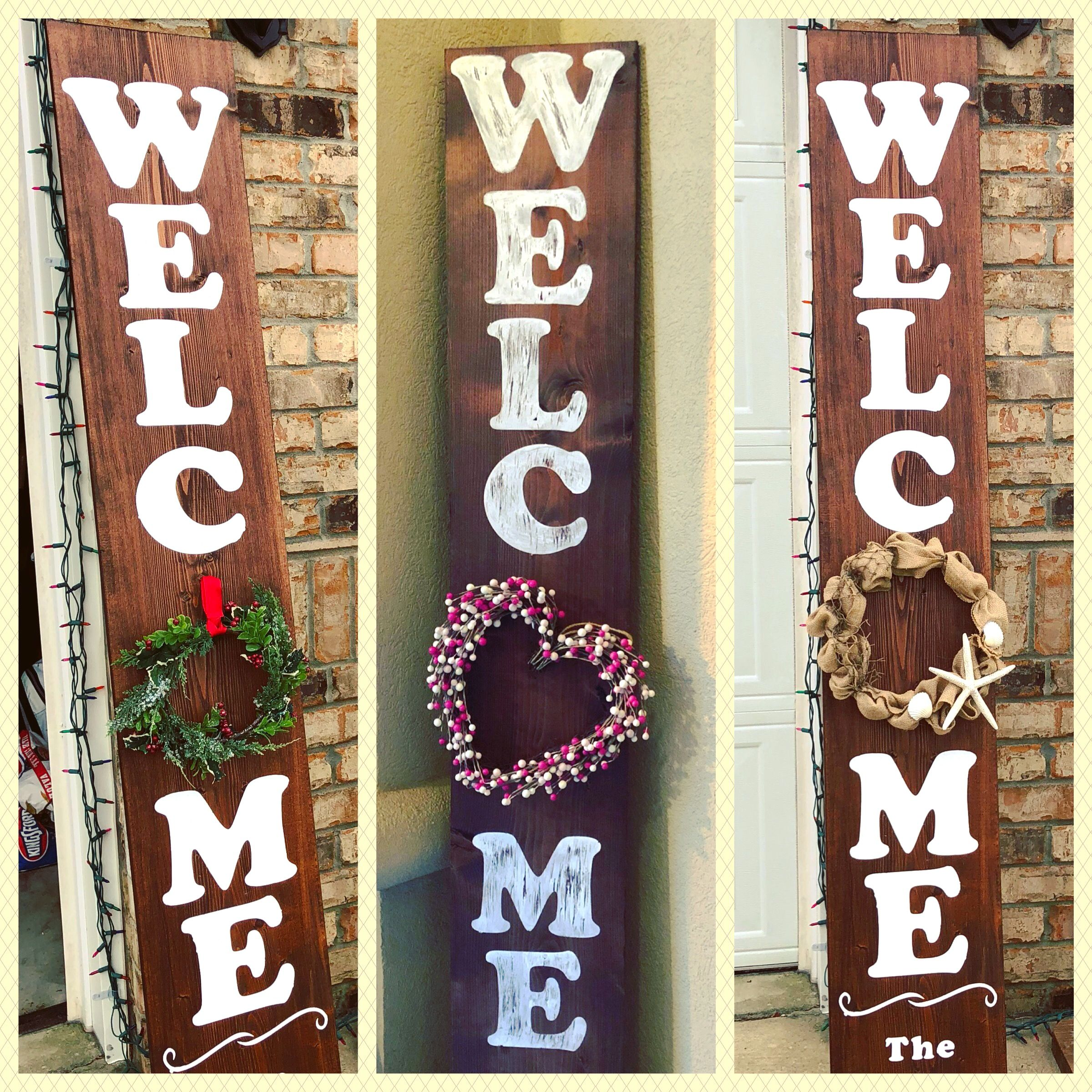 6 Foot Welcome Sign Perfect For Front Door Housewarming Gift Wreath Not Included Wooden Welcome Signs Wooden Signs Diy Welcome Signs Front Door