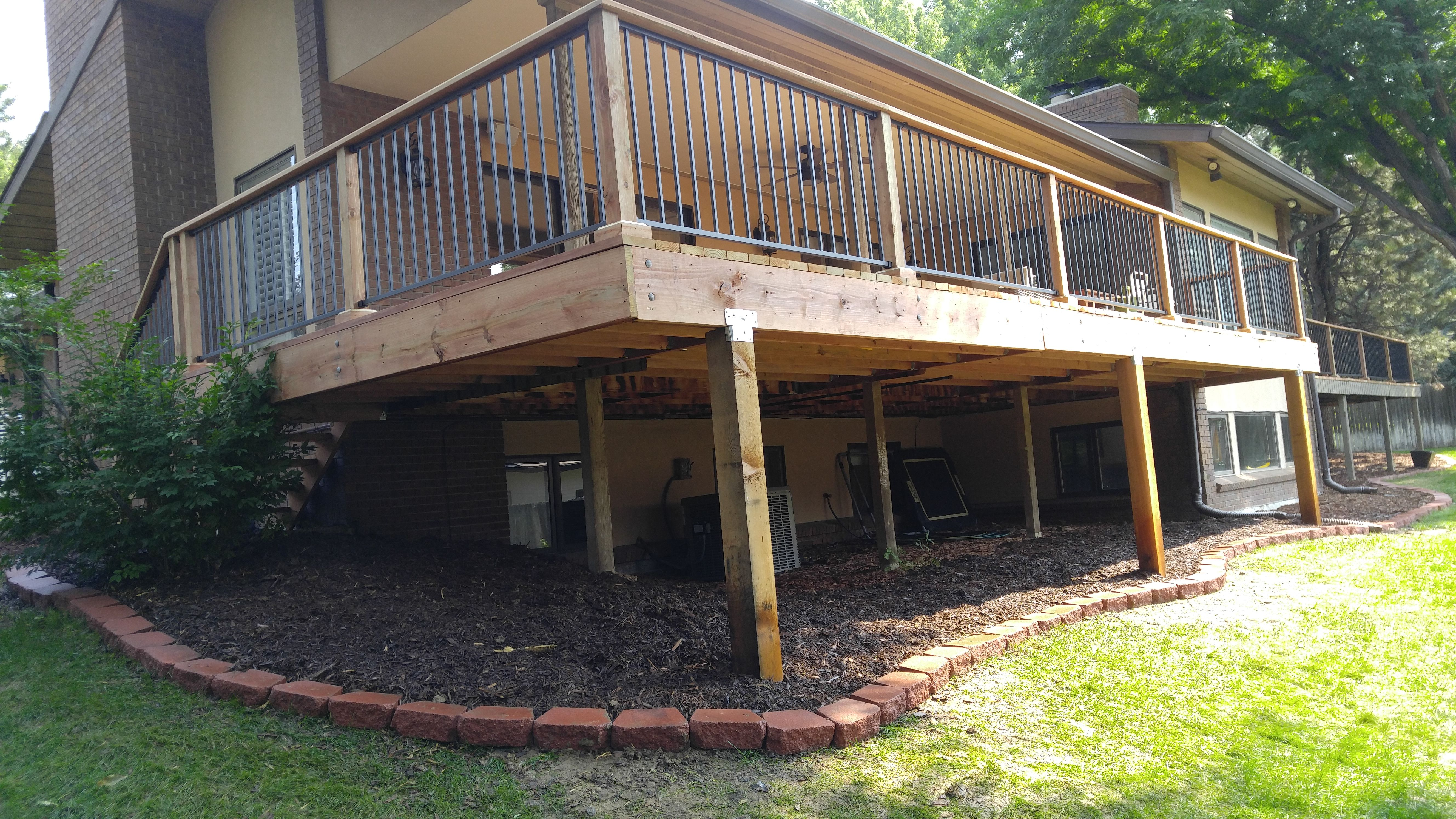 265 Sq Ft Deck Extension With Custom Handrail Design