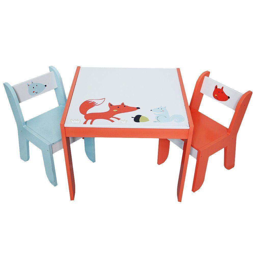Kindertisch Mit 2 Stühlen Motiv Fuchs Passt Perfekt In