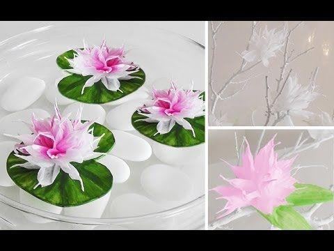 DIY Wunderschöne Blüten aus Krepp-Papier einfach selber machen - tischdeko basteln sommerfest