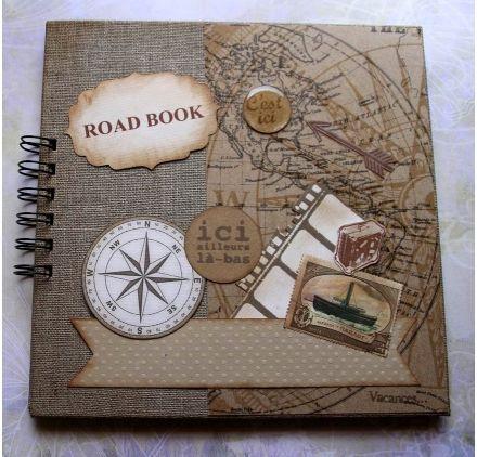 r aliser une couverture de road book dani le c carnets de voyage pinterest corsaire. Black Bedroom Furniture Sets. Home Design Ideas