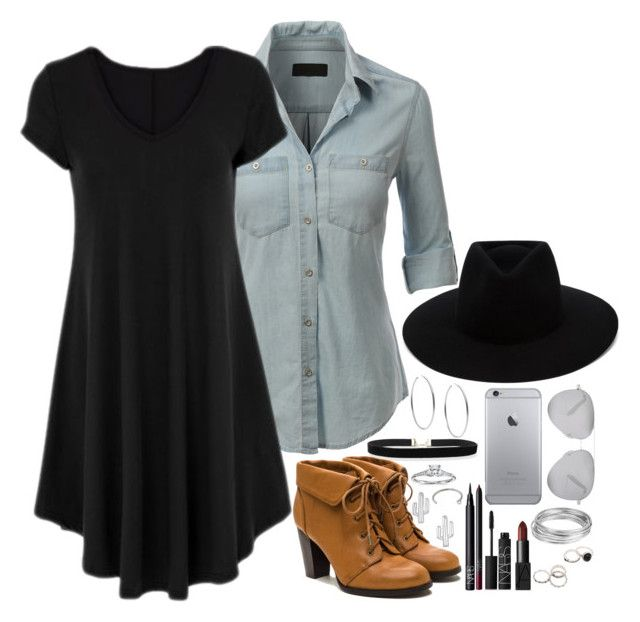 """""""Untitled #122"""" by katelight00 ❤ liked on Polyvore featuring LE3NO, Blue Nile, Michael Kors, NARS Cosmetics, rag & bone, Worthington, Rebecca and Victoria Beckham"""