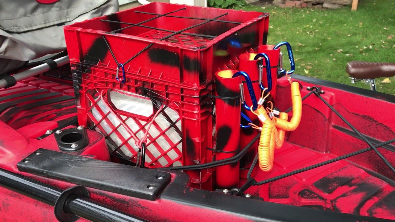 Kayak milk crate setup diy youtube kayaking kayak