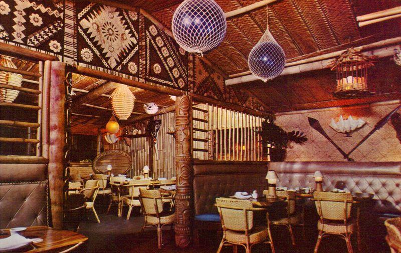 1928 728 Basement Tikilighting Tiki Tapa Postcard From Trader Vic S In San Francisco Date Unknown From The Collection Tiki Room Tiki Bar Tiki Decor