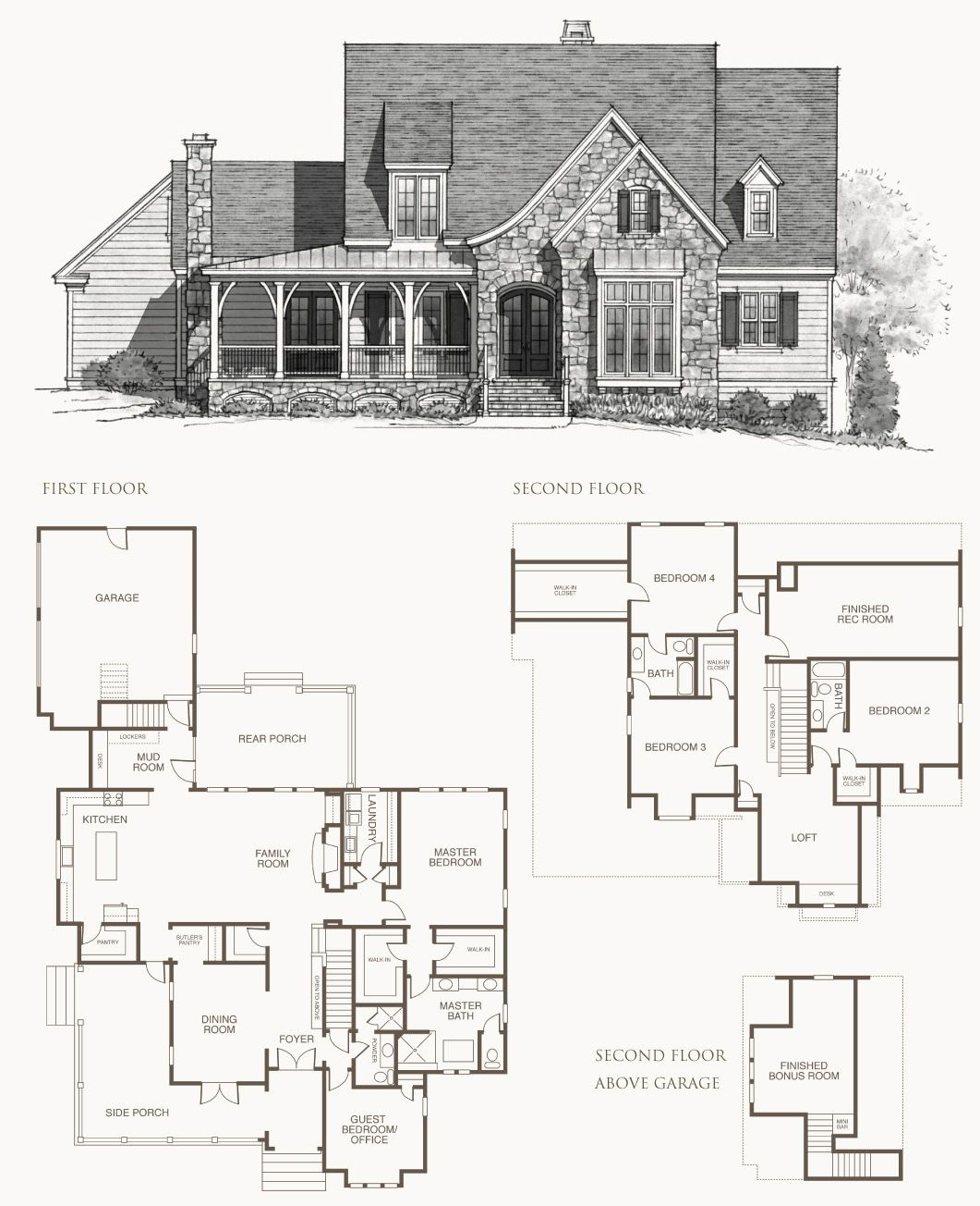 Southern living house plan elberton way home design and for Southern living house plans with keeping rooms