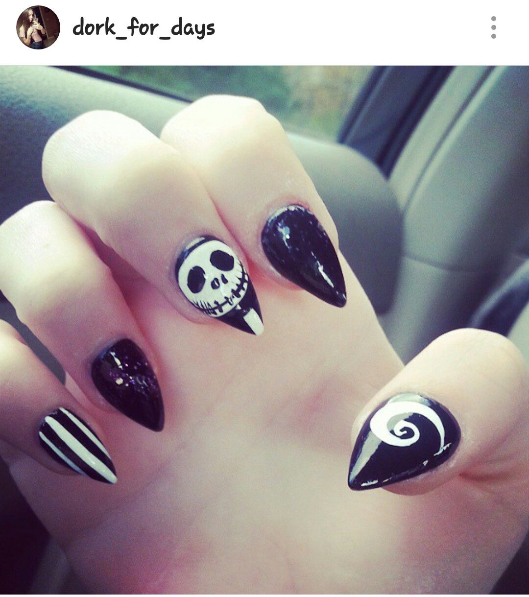 Nightmare Before Christmas nails!! #jack #jackskellington ...
