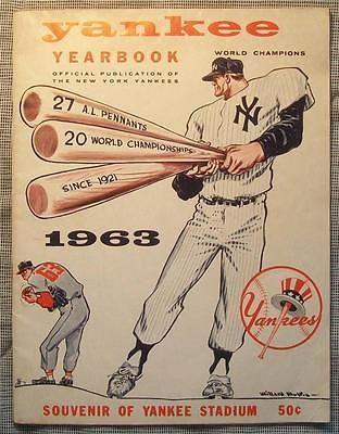 1963 New York Yankees Yearbook Program Mantle Maris Ford Berra Howard Kubek New York Yankees Ny Yankees Yankees