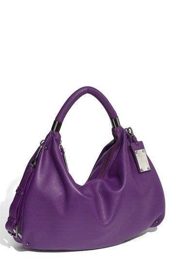 c5d24a2a6f Kenneth Cole New York  No Slouch Too  Leather Hobo. The plum color is  gorgeous for fall.