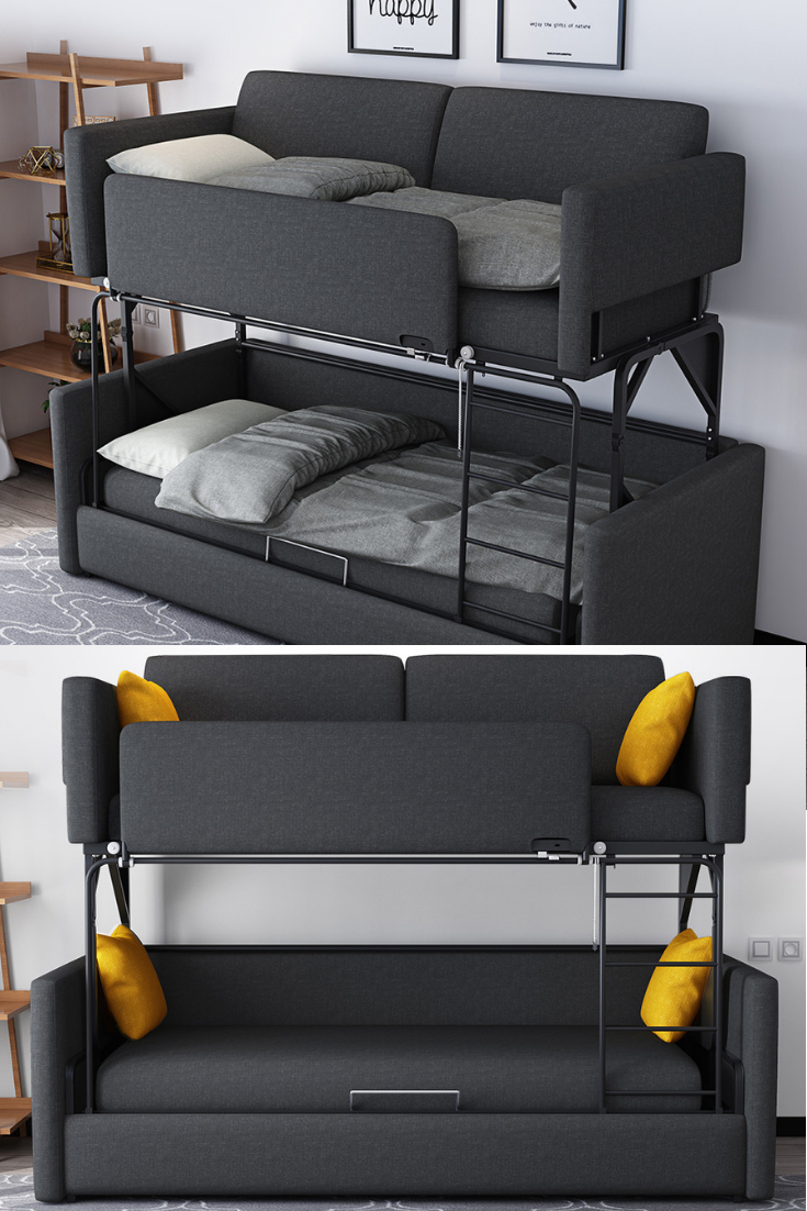 Bulk Bed 2-Levels Sofa | Sofa bed design, Sofa bed for small