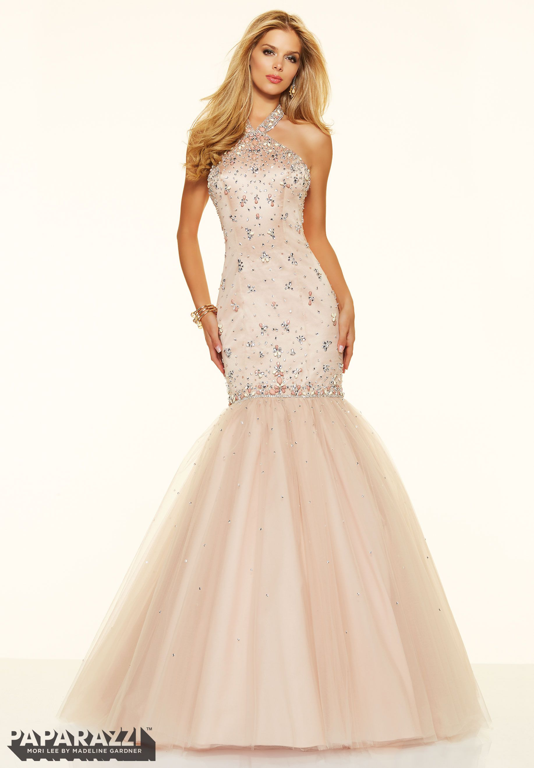 Prom dresses by paparazzi prom sugar coated stones on satin and