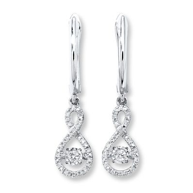 24542b51b Jewelry from Kay Jewelers, your trusted Jewelry Store. Diamonds in Rhythm  1/5 ct tw Earrings 10K White Gold